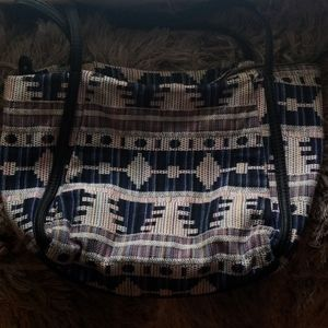 Large Aztec/Urban Print shoulder bag